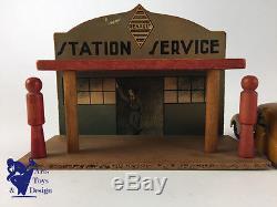 Cij 14/1 Station Service Renault C. 1935 15x11.5cm Tres Bel Etat