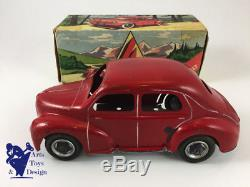 Cij 5/48 Jouet Ancien Renault 4cv Chocolat Kemmel Rouge Avec Sa Rare Boite