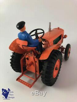 Cij 8/52 Rare Renault Tracteur Agricole Tole Electrique Jouet Ancien Avec Boite