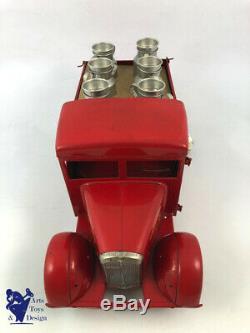 Cij Camion Renault 5t Laitier 1/10 Jouet Ancien Tole Mecanique