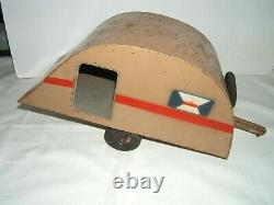 Cij Caravane En Tole 36 CM Pour Renault Vivasport Annee 30-40 Old Tin Toys