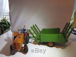 Cij Tracteur & Remorque Original Jouet Ancien