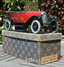 Cij jrd jouet citroen mecanique 10HP voiture ancienne en tôle torpedo B2 + boite