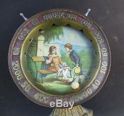 Circa 1900 une ROULETTE DE COMPTOIR / jeu de bistrot