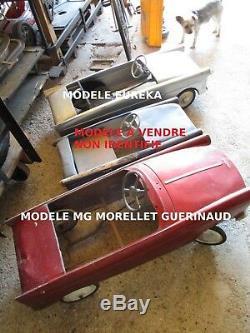 DVxxx VOITURE A PEDALES PEUGEOT 404 Volant EUREKA 85 cm TRES RARE MODELE