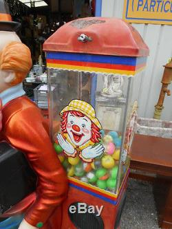 Distributeur De Jouets Clown, Falgas Epoque 1970 En Fibre