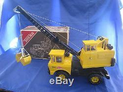 Dv3824 Tonka Camion Grue Mighty Crane 3940 Tres Bon Etat Boite