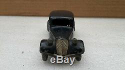 Exceptionnelle Dinky Toys France 24 N Citroen Traction Avec Roue Bleu Marine