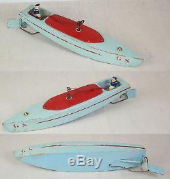 GIRAUD SAUVEUR - Canot bateau de bassin mécanique - Très peu courant -