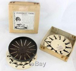 GRAMOPHONE CINEMA vers 1920 / optical toy magic lantern