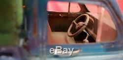 GRANDE Auto Voiture Miniature SIMCA ARONDE PICK UP en tôle (Longueur 25 cm)