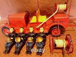 Grand Camion Pompiers Tole Cij Complet Ex Etat Origine Jouet Citroen Jep Jrd Cr