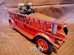 Grand Camion Pompiers Tole Cij Complet Tb Etat Origine Jouet Citroen Jep Jrd Cr