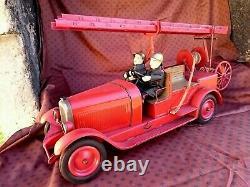 Grand Camion Pompiers Tole Jouet Andre Citroen Jep Cij Jrd Cr Complet Tr B Betat