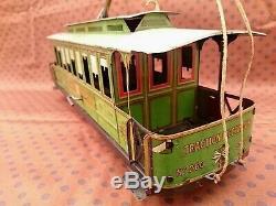 Grand Tramway Cr Charles Rossignol 34 CM Tole Trb Etat Cij Jep Jrd Jouet Citroen