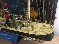 Grand bateau à vapeur vive CALEDONIA TUCHER et WALTHER no jep bing marklin