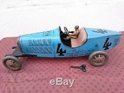 Grande Bugatti 35 Jep 43 CM Tole Superbe Etat D'origine Cij Jrd Cr Jouet Citroen