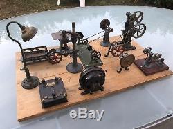 Grande usine A Vapeur Machine Outil Jouet Ancien Électrique Bing Fleschman
