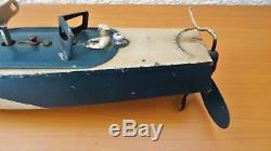 JEP Ruban Bleu n°0 Bateau jouet Vedette Canot de bassin mécanique