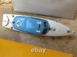 JEP canot bateau Ruban Bleu N°1 électrique 38 cm 5915-11 boite sortie de grenier