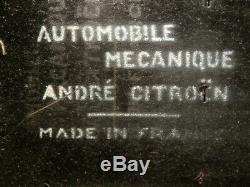 JOUET ANCIEN TOLE VOITURE ANDRE CITROËN FAUX CABRIOLET B14 MECANIQUE 1/15é 31cm