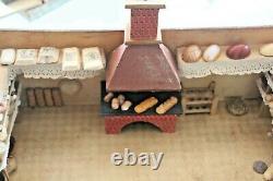 JOUET BOIS ancien boulangerie épicerie miniature + 3 boites pains Années 1900/30