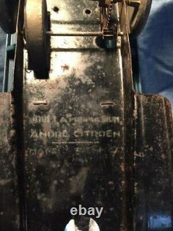 JOUET CITROEN CAMION RIDELLE SANS PHARE BLEU 1/25e 22 cm jouet ancien tole