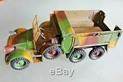 JOUET TÔLE ancien LINEOL camion KRUPP Transport de troupe 1938 124 Militaire
