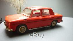 JOUSTRA RENAULT R8 GORDINI ROUGE GRAND MODELE A CLEF TBE ancien jouet toy car