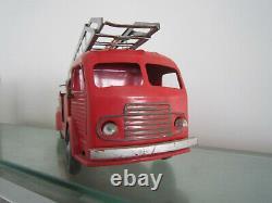 JRD 463 CAMION DE POMPIERS DE PARIS AVEC GRANDE ECHELLE jouet ancien