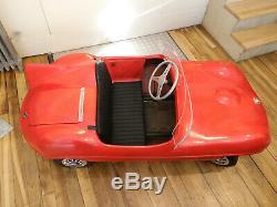 Jaguar Type D Auto D'enfant À Moteur Thermique Rare Version Of Cheetah Cub Car