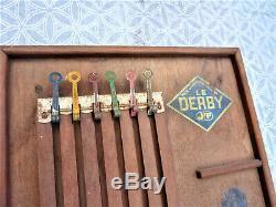 Jep Ancien Jouet Jeu Le Derby Chevaux Tierce Jeu Bistrot Toy Old Horse Games