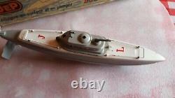 Jep France Noutilus sous marin gris et crème n°919 Bel état d'usage avec sa c