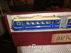 Jep grand Autorail Triple Jep Nord 1939 ECH O Compatible Hornby Marklin Bing