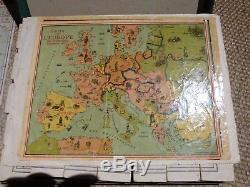 Jeu Jouet Ancien Saussine Atlas Géographique Jeu De Cubes 1900 6 Cartes