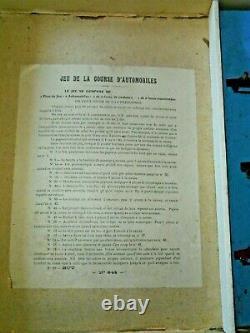 Jeu léon SAUSSINE 1900 COURSE D'AUTOMOBILE à restaurer