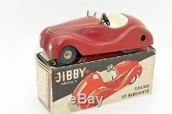 Jibby Suisse Voiture Coupé Décapotable Mécanique En Tole Type Schuco Avec Boite