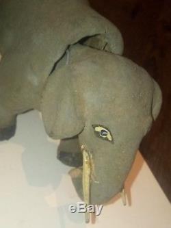 Jolie ancien jouet articulé bois mécaniser articulé roulette XIX ème ou avant