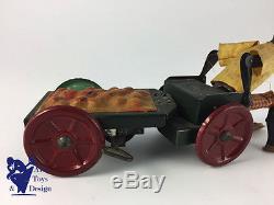 Jouet Ancien Antique Toy Fernand Martin L'autopatte Vers 1920 Vert 2° Variante