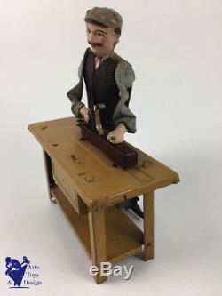 Jouet Ancien Antique Toy Fernand Martin Le Menuisier Vers 1908 Etat Exceptionnel