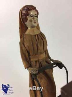 Jouet Ancien Antique Toy Fernand Martin Voiture Nounou Nurse Vers 1929