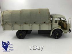 Jouet Ancien Cij 6/31 Camion Tole Electrique Renault 120cv Bache Av Boite