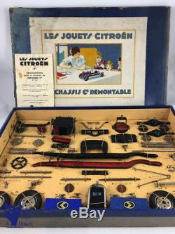 Jouet Ancien Citroen 1/10 Boite 1 Reference 300/1 Chassis Demontable Voiture C6