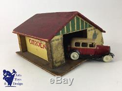 Jouet Ancien Citroen Garage Basque Citroen Pour 1/43° Vers 1934