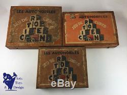 Jouet Ancien Citroen Jeu De Cubes Bon Etat D'usage Vers 1930 DIM 20x28cm