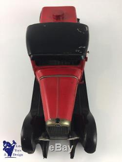 Jouet Ancien Citroen Mecanique Ref 525 1/13° C4 Arroseuse Balayeuse Rouge C1933
