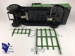 Jouet Ancien Citroen Mecanique Ref 546 1/10° Camion C4 Fourragere Avec Boite