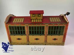 Jouet Ancien Cr Ref 50 Charles Rossignol Grand Garage En Tole Av Eclairage 1931