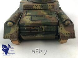 Jouet Ancien Gama N°60 Tank Panzer Mecanique Vers 1935 L 19cm