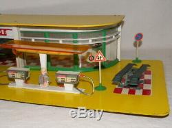 Jouet Ancien Garage Station Service Total Depreux Nil Miniature Norev Dinky Toys